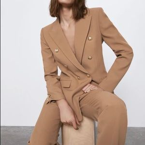 ZARA Double Breasted Blazer Jacket (Balmain dupe!)